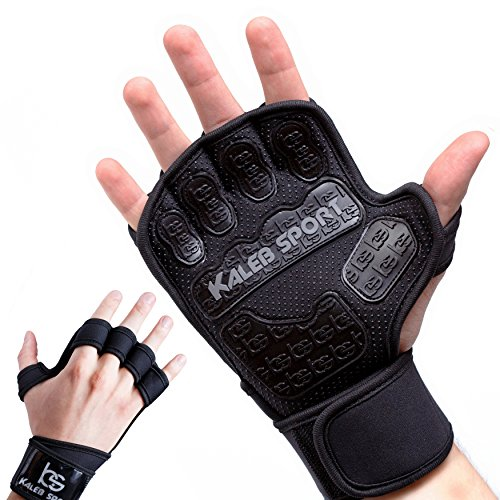 Workout Gloves - Wrist Support Wraps - Best Grip - for Cross Training, Pullup, Fitness Gym, CrossFit WOD, Weight Lifting, Calisthenics, Wodies, Gymnastics Pull Up Bar, Weightlifting - Men & Women - M