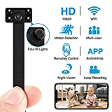 Mini Hidden Spy Camera Night Vision WiFi 1080P HD DIY Mini Camera Wireless Video Recorder Motion Detection Disguise Button Camera Real-Time View Nanny Cam