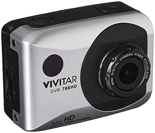 Vivitar DVR786-SIL 1080p HD Waterproof Action Video Camera Camcorder (Silver) with Remote, Helmet & Bike Mounts