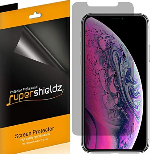 [2 Pack] Supershieldz- Privacy Anti-Spy Screen Protector Shield for Apple iPhone XS Max (6.5