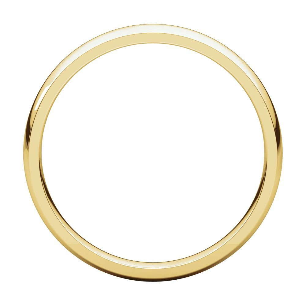 14K Yellow Gold 3mm Light Comfort Fit Band