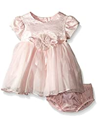 Bonnie Jean Baby Girls Pink Lace Organza Baby Dress
