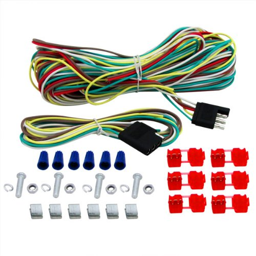 4 Way Trailer Wiring Connection Kit Tow Light Extension Wire Kit by EZ Travel Collection