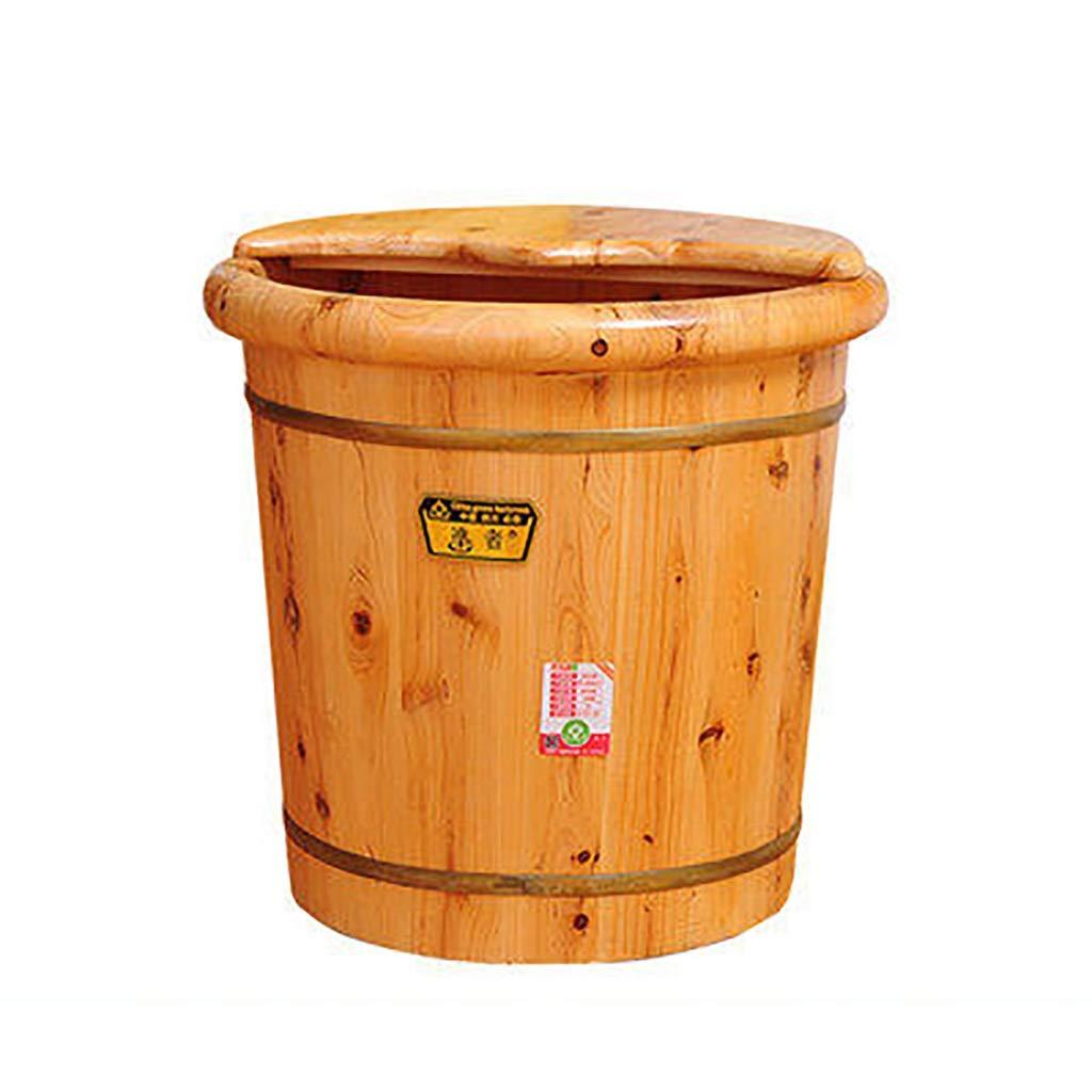 フットバスソリッドウッドフットバスバレルカバー付きペディキュア洗面器フット洗濯バケツ家庭用肥厚増40cm B07KRVHKQF B07KRVHKQF, シラヌカチョウ:d77235d0 --- itxassou.fr