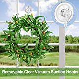 4PCS Wreath Hanger, Suction Cup Hooks with Key