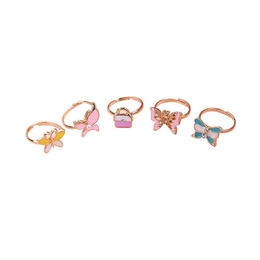 Cartoon bambini anello 36pz, bambini PC cute Toy Beautiful lega anelli con diversi colori mini anello Wuudi