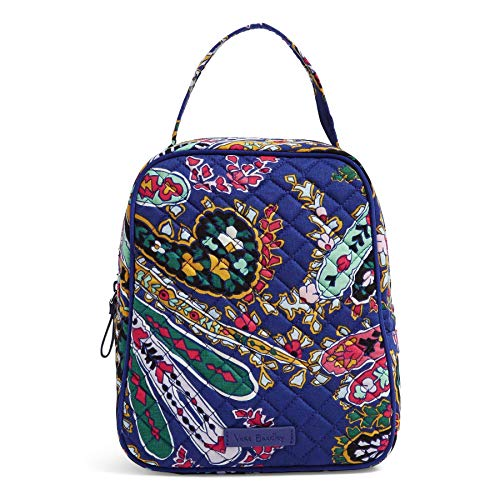 Vera Bradley Women's Signature Cotton Lunch Bunch Lunch Bag, Romantic Paisley, One Size in USA