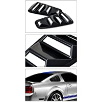 Topline Autopart Black Retro Sport Rear 1/4 Quarter Side...