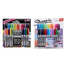 Sharpie Ultra-Fine Point Permanent Markers, 80s Glam and Electro Pop Colors, 48 Markers In Total by Sharpie