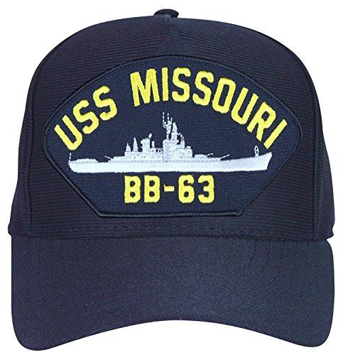 Armed Forces Depot USS Missouri BB-63 Baseball Cap. Navy Blue. Made In USA