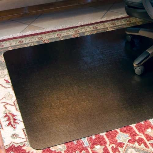 Bronze Design Chair Mat Size 46 x 60 Rectangular, Straight .130, Carpet