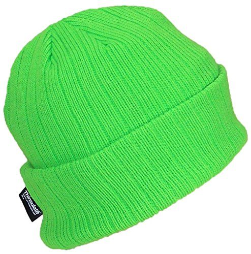 Best Winter Hats 3M 40 Gram Thinsulate Insulated Cuffed Knit Beanie (One Size) - Neon Green