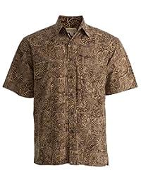Indo Bay Tropical Hawaiian Cotton Batik Shirt