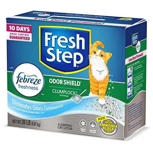 Fresh Step Odor Shield Scented Litter with the Power of Febreze, Clumping Cat Litter, 20 Pounds (Best Cheap Cat Litter)