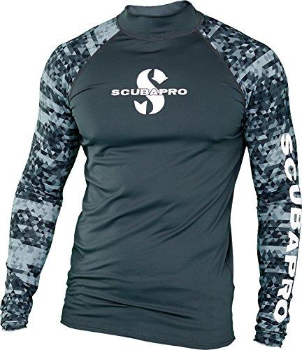 Scubapro Men's UPF 50 Long Sleeve Rash Guard (2X-Large, Graphite)