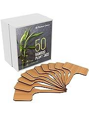 50 Etiquetas de Plantas de Bambú en Caja de Regalo (tipo T)   Etiquetas de Plantas   Marcadores