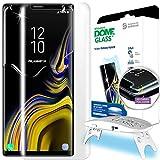 Dome Glass Galaxy Note 9 Pantalla Protectadora, Mica de Vidrio Templado, [Tecnología de Dispersión Liquida] Crystal 3D con Curva de Cobertura Completa, Kit de Fácil Instalación y Luz UV por Whitestone