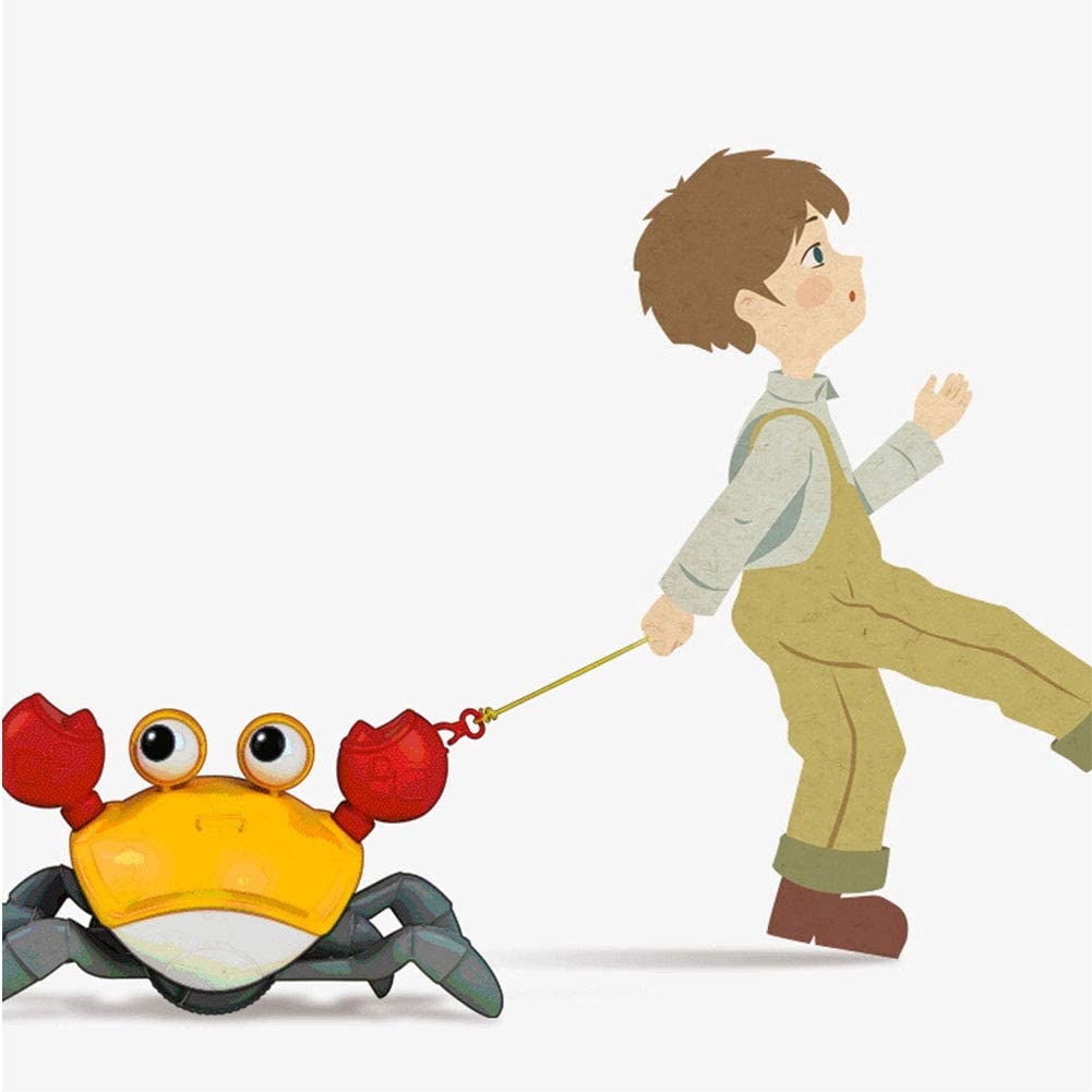 LAKI HOME Fun Bath Time Tub Crab Toys Walking on The Beach Pull and Play Crab Toy for 2 3 4 5 6 Years Boys and Girls/…