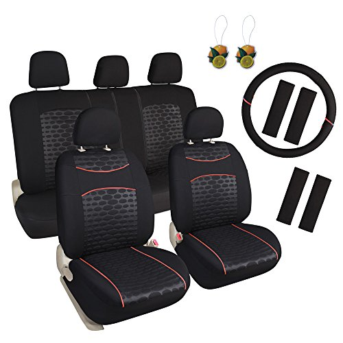 Leader Accessories 17pcs Cloth Universal Fit Car Seat Covers