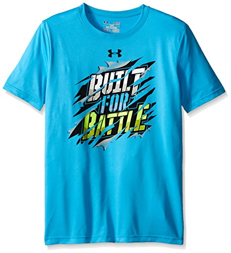 Under Armour Boys' Built For Battle T-Shirt, Meridian Blue (987)/Black, Youth Small