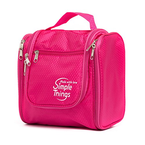 Toiletry Bag For Men & Women by SimpleThings (Pink)