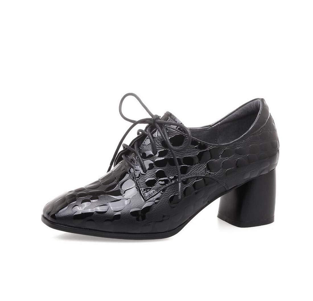 Zapatos De Las Mujeres De Encaje Tacones Altos Simple Moda Acento 39EU|Black