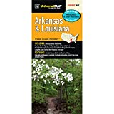 Arkansas & Louisiana State Waterproof Map