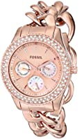 Fossil Women's ES3500 Stella Multifunction Stainless Steel Watch - Rose Gold-Tone