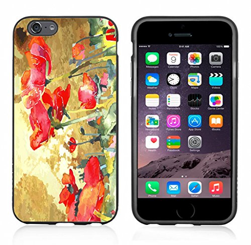 Poppy Field Watercolor Case/Cover For Iphone 6 or 6S by Atomic Market