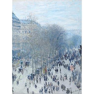 Boulevard des Capucines by Claude Monet - Art Print Poster (24  x 18 )