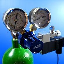 AZOO Aquarium CO2 Pressure Regulator with Magnetic Valve - Solenoid Plants Tank