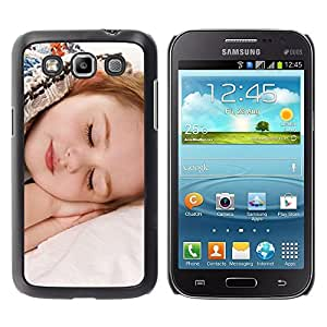 Be Good Phone Accessory // Dura Cáscara cubierta Protectora Caso Carcasa Funda de Protección para Samsung Galaxy Win I8550 I8552 Grand Quattro // Sleep Tired Baby Cute Small Kid
