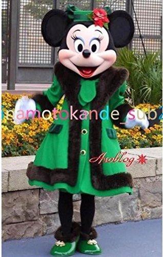 東京ディズニーランド ミニー コス プレ衣装+手袋+髪飾り+靴カバー