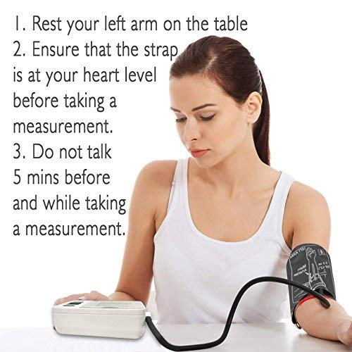 Blood Pressure Monitor Arm Automatic Blood Cuff Kit BP Monitor for Kit Home Use - Storage Included