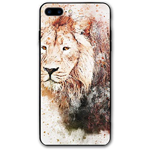 TPSXXY-8 Lions Animals Art Abstract Watercolor Paint Splatter Phone Shell Shock Absorption Bumper Case Enhanced Grip Protective Defender Cover for iPhone 7/8 Plus