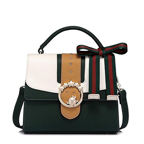 Pour Green à De Main Shopping D'épaule Nouveau Ryyy De De Mode Le Messager Sac Contraste Sac De 4waFHxO