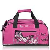 Kinder Sporttasche 'Butterfly' pink
