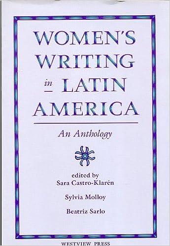 Online gratis bogen downloads Women's Writing in Latin America: An Anthology 0813305519 in Danish PDF FB2 iBook