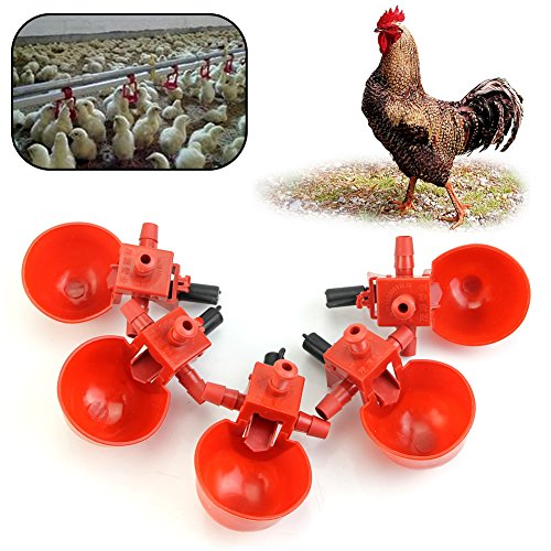 Delight-eShop-5Pcs-Feed-Automatic-Bird-Coop-Poultry-Chicken-Fowl-Drinker-Water-Drinking-Cups