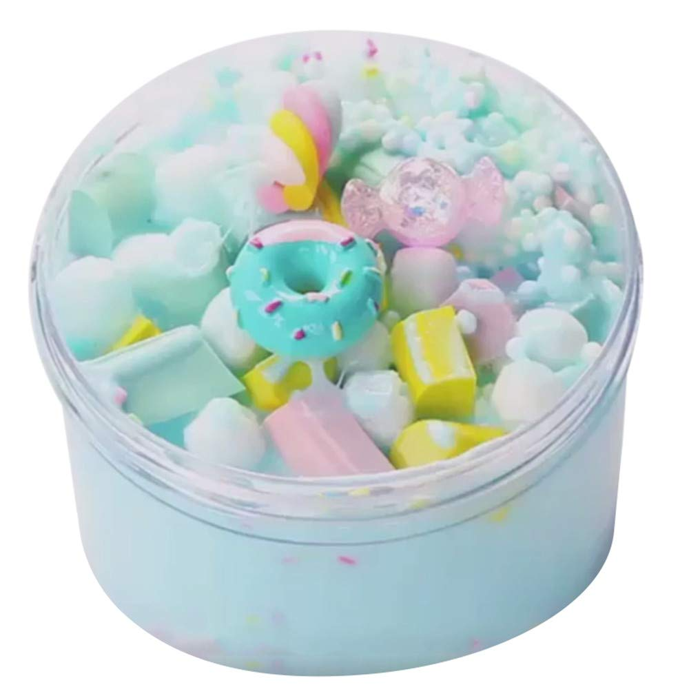 Christmas Best Toy Gift!!!Kacowpper Ice Cream Beautiful Color Mixing Cloud Slime Putty Scented Stress Kids Clay Toy