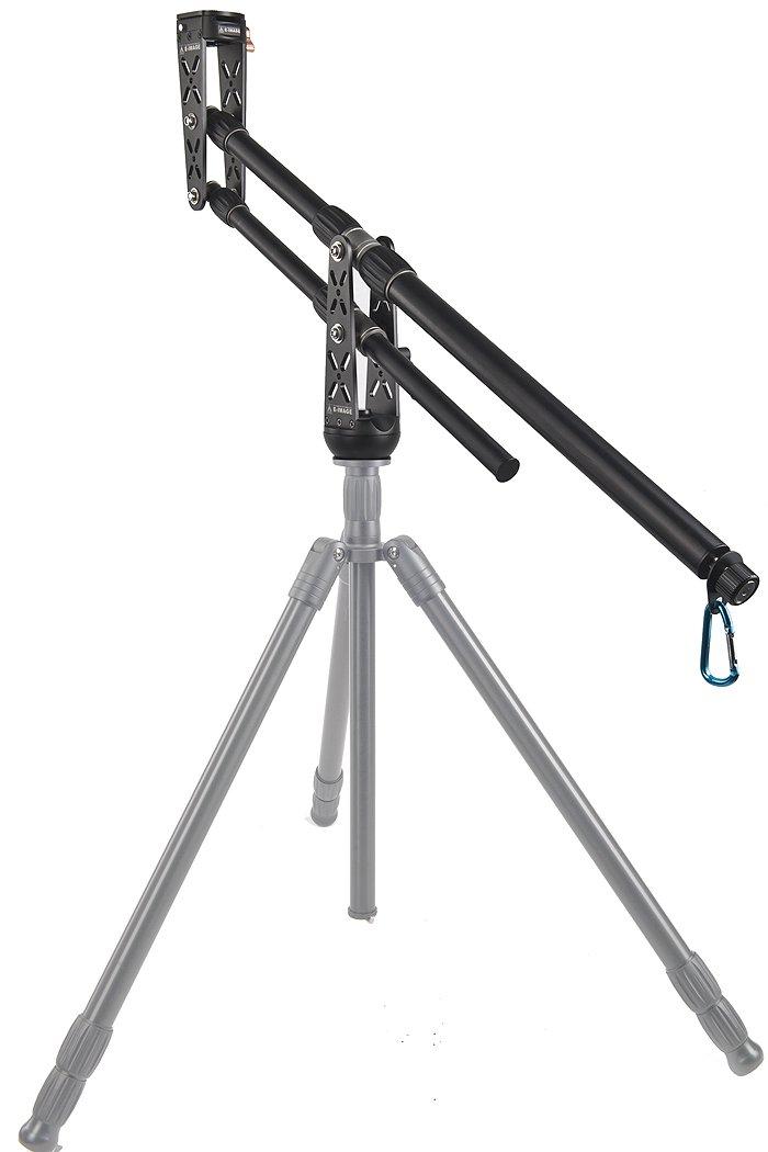 ePhotoInc New Portable DSLR Mini Jib Crane Video Camera Jib Video Jib Arm with 2 QR Plates EA-500A