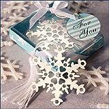 Snowflake Bookmark Favors, 48