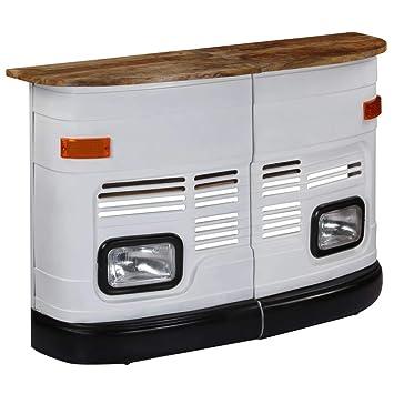 Tavolo Cucina Arredamento.Romelareu Tavolo Da Bar Camion In Legno Massello Di Mango