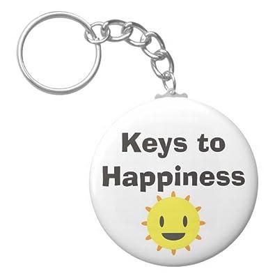 Amazon.com: A & T diseños llaves para felicidad 2.25 ...
