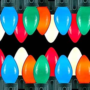 Set of 25 Opaque Multi-Color C7 Christmas Lights - Green ...