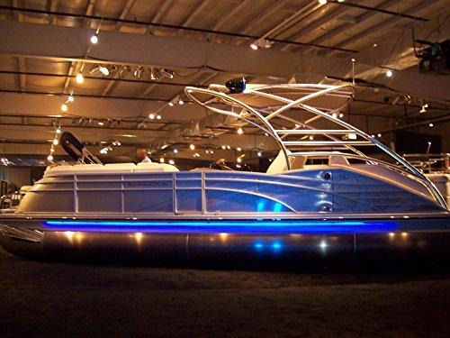 CH Blue Boat Lights - Under Deck Pontoon Light/Pleasure Boat Accent LED Lights - Interior or Exterior 12V 12 Volt DC - Pontoon Kit Deck