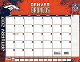 """Turner Licensing Sport 2017 Denver Broncos Desk Pad Calendar, 22""""X17"""" (17998061535)"""
