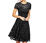 Eliffete Girl's Sexy Lace Clubwear Short Summer Party Prom Dresses with Sleeves