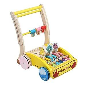 Kidsidol Andador de madera plegable ajustable antideslizante de ...