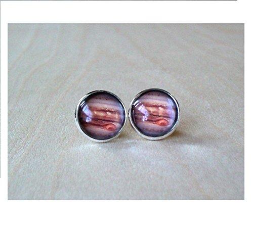 Jupiter Planet Stud Earring (Ju Ju Ladybug)